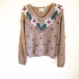 Vintage Handknit Ramie Blend Sweater